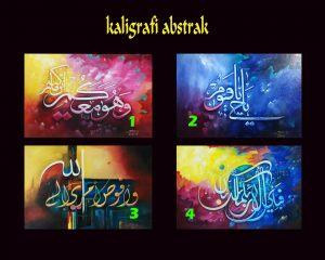 Kaligrafi Abstrak Murah